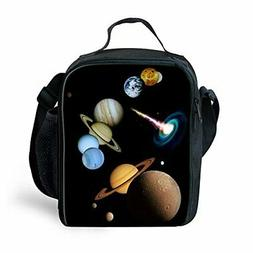 HUGS IDEA Insulted Thermal Lunch Bag Planet Printed Kids Lun