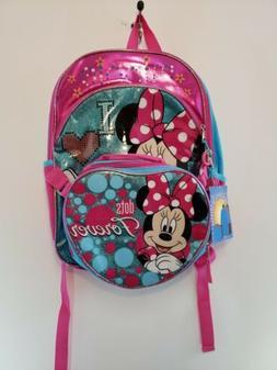 Disney Junior Minnie Mouse Backpack Detachable Lunch Bag Dot