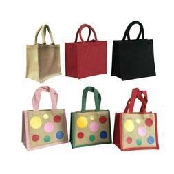 Jute burlap lunch bags gift bags
