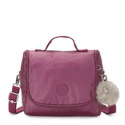 Kipling Kichirou Metallic Lunch Bag Fig Purple Met