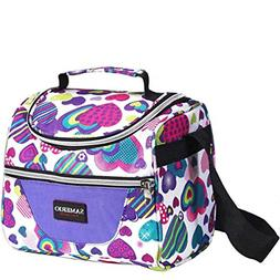 Kids Bag insulated Lunch Box Organizer Cooler Bento for Scho
