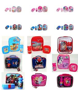 Kids Boys Girls Character Lunch Bag Set For Various Use.