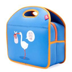 Kids Insulated Lunch Tote, Blue Neoprene Lunch Bag Box for B