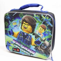 Kids Lego Movie 2 Batman Zippered Insulated Lunch Bag Box To