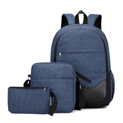 3Pcs Backpack Boys Daypack Bag