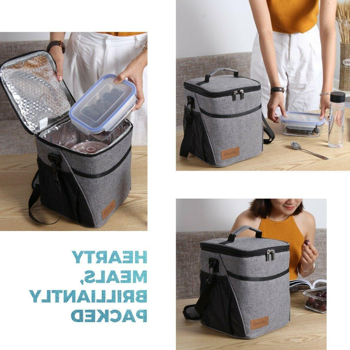 9L Lunch For Women Thermos Cooler Adults Tote Lunch
