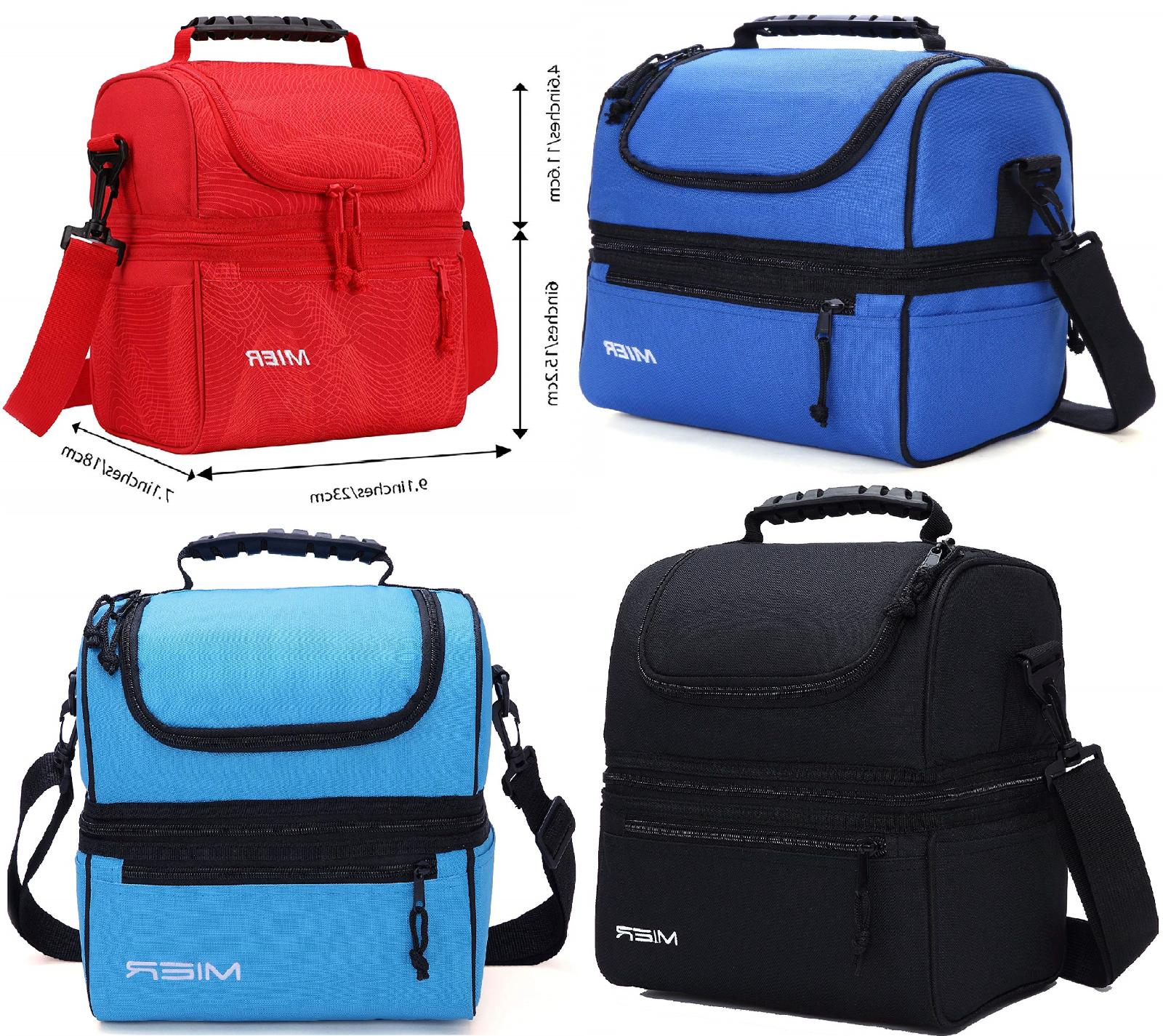 MIER Adult Lunch Insulated Lunch Large Men, Women