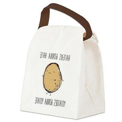 canvas lunch bag with strap handle 798542296