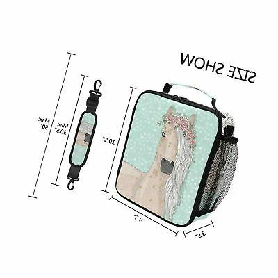 Cute Lunch Cooler Lunch Bag with Shoulde...