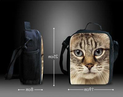 Cute Pug School Satchel Travel Bag for Girls 2pcs