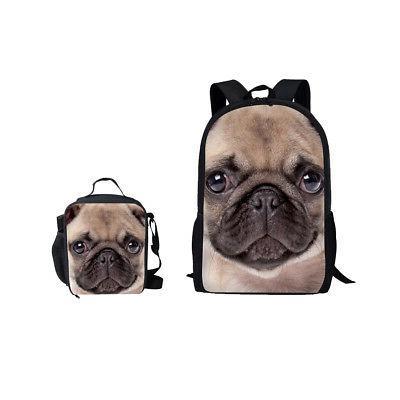 cute pug school bag satchel travel backpack