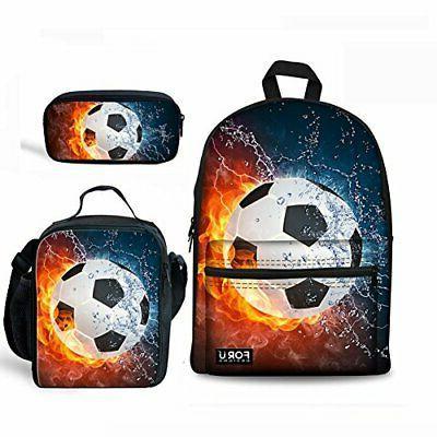 fashion football school backpacks for childlren