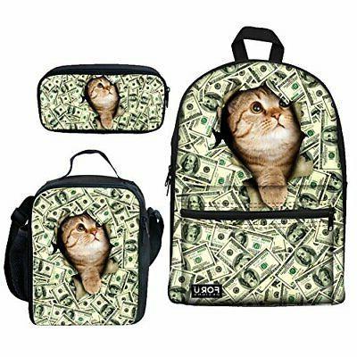girls school bags backpack lunch bag pen