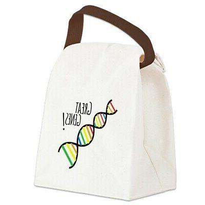 great genes canvas lunch bag with strap
