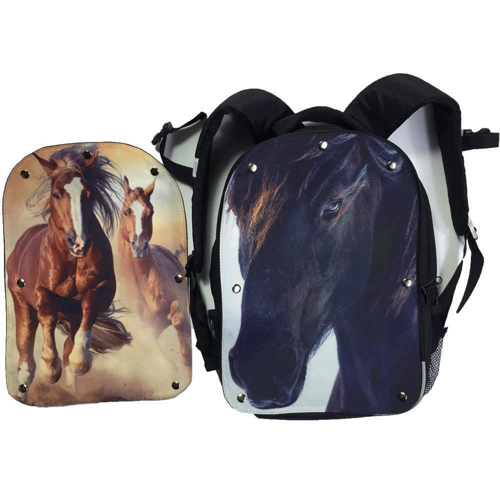 horse backpack for girls boys kids school