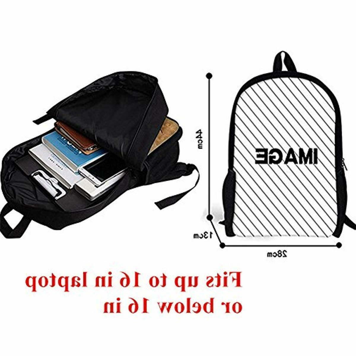 INSTANTARTS Shoulder Backpack Satchel Lunch Bag