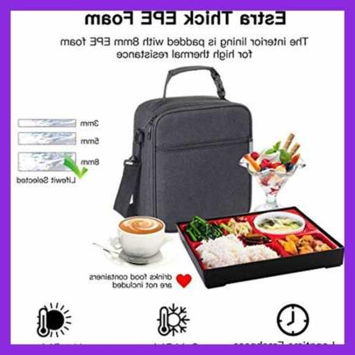 Insulated Lunch Bag Tote For Teen Kids Office Meal