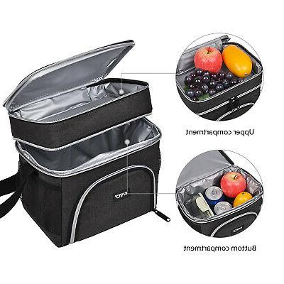 Insulated Lunch Bag Compartment Thermal Cooler