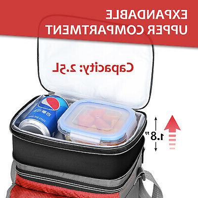 Minimalist Insulated Bag Tote, Expandable Lunch Box