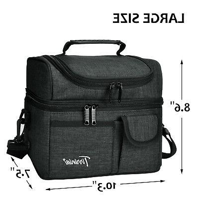 Insulated Lunch Bag Totes Cooler Large Bento Lunch Box for Women
