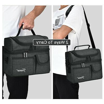 Cooler Bento Box Bag for Men Women