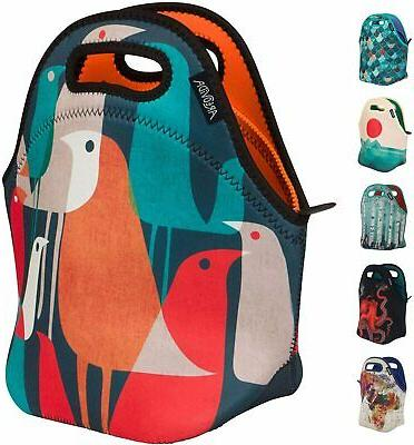 insulated neoprene lunch bag reusable soft lunch