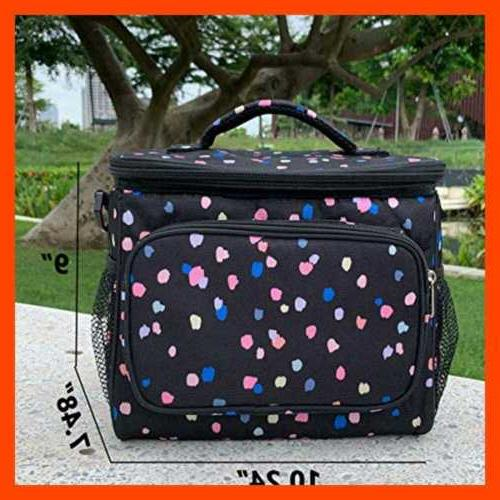 Insulated Lunch Bag Adult LARGE Box Women & Men W Adjustable Should