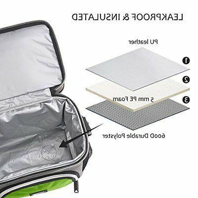 Insulated Small Lunch Bag, Leakproof Compartment Cooler