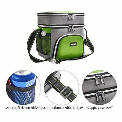 Insulated Lunch Bag, Leakproof Compartment Cooler Reusable