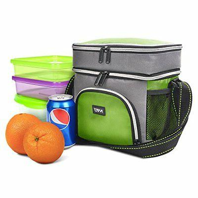 Insulated Lunch Leakproof Compartment Thermal Cooler Reusable