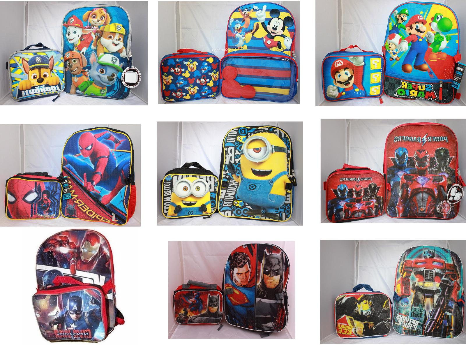 Little Lunch box Book Bag Kids Heroes