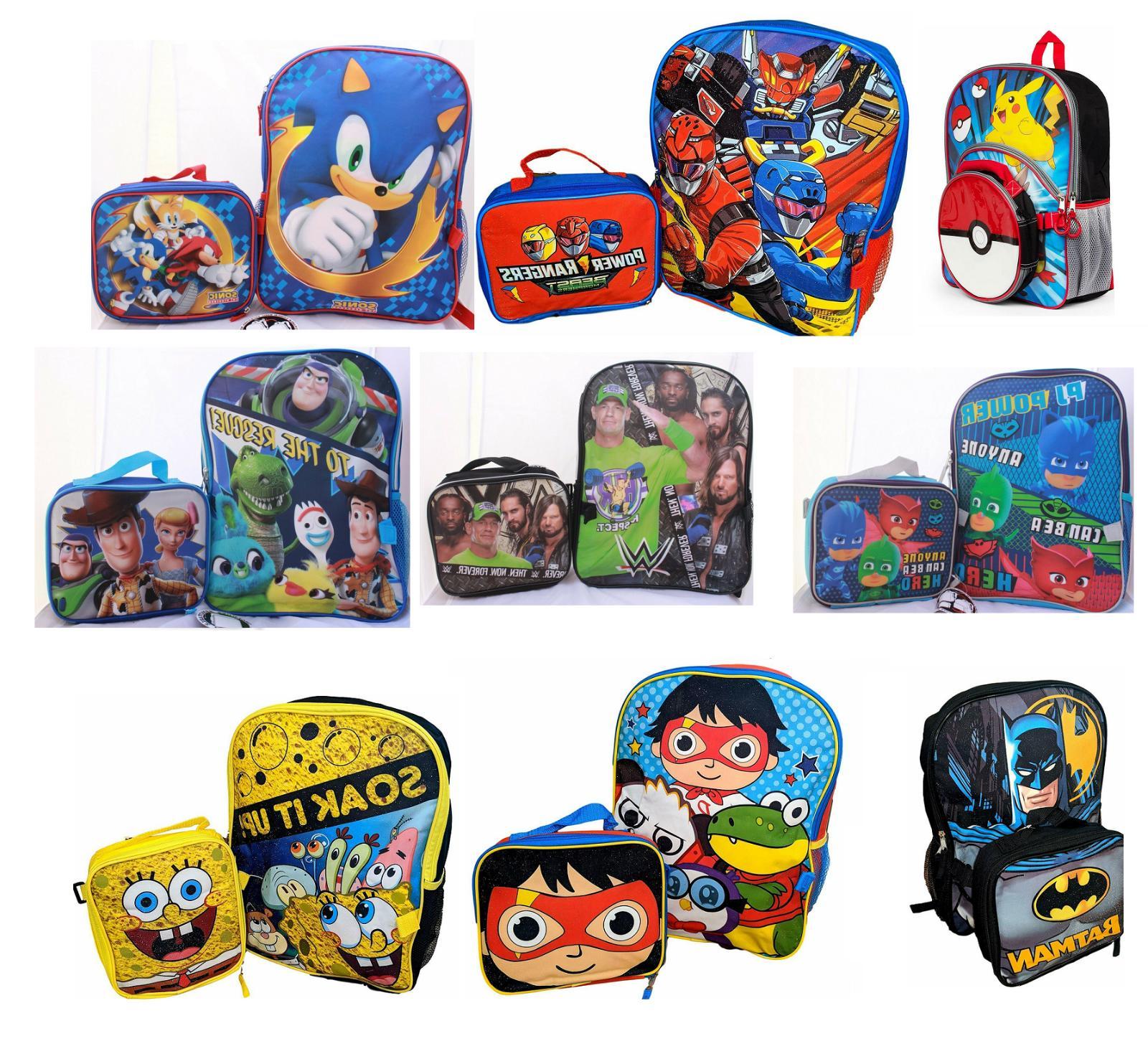 little boys school backpack lunch box set