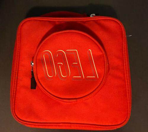 lunch bag cooler red brick soft used