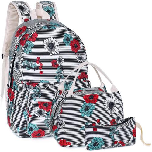 Middle School Backpacks with Lunch Bag Pencil Case for Littl