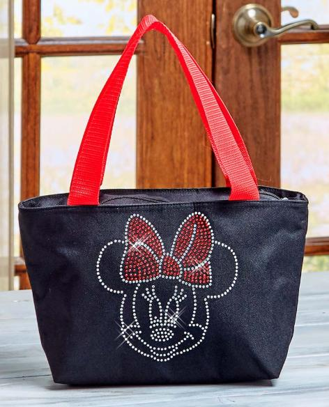 Minnie Mouse Tote Insulated Embellished Black