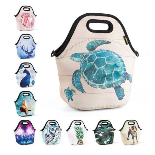 neoprene insulated lunch bag for girls kids