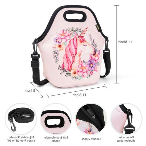 Neoprene Cute Bags for Kids School Office Insulated Lunch Box
