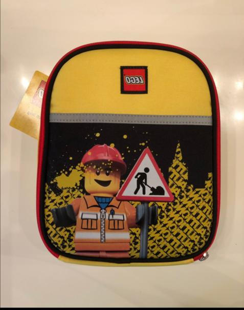 nwt minifigure construction city school insulated lunch
