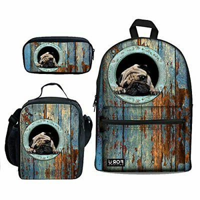 personalized animal backpack school bag lunch bag