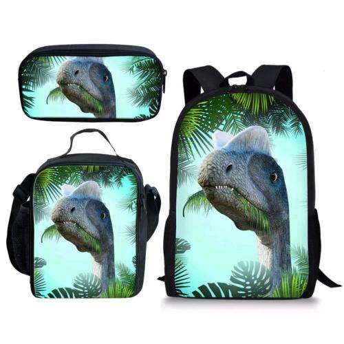 INSTANTARTS Primary Backpack Lunch Case Pen Box Diplodocus D