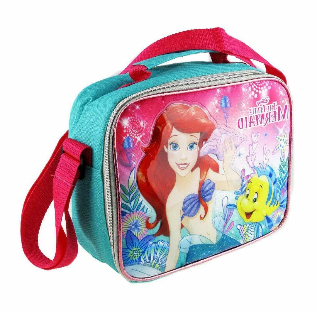 "Disney The Little Mermaid Ariel 9.5"" Blue & Pink Insulated L"