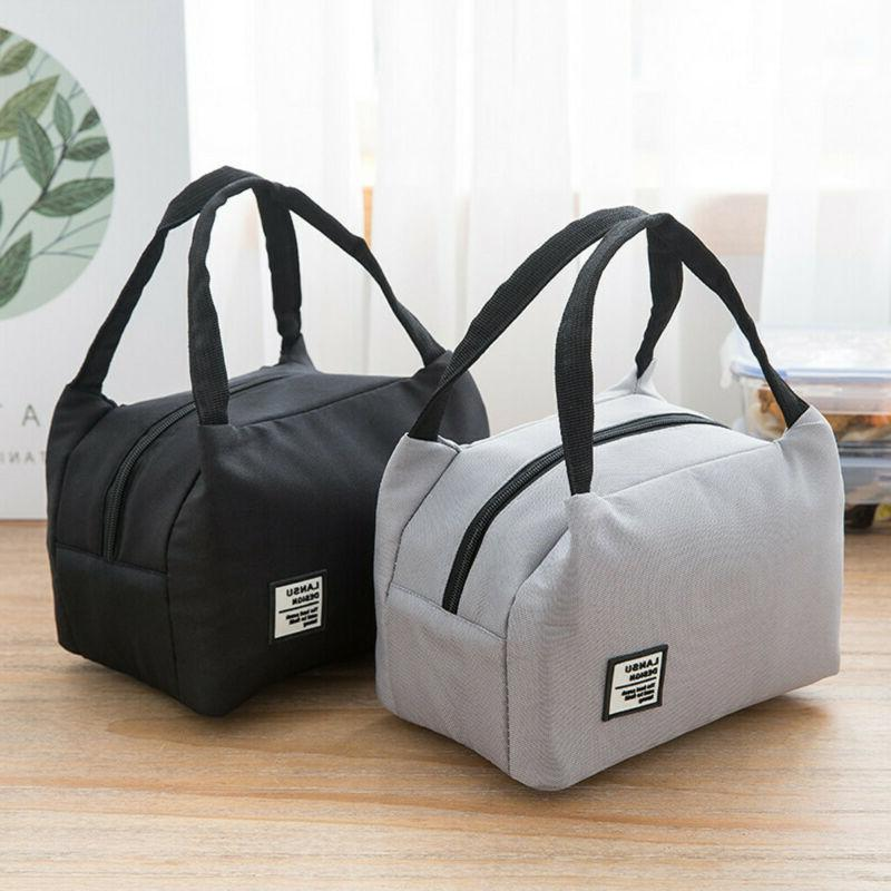 Women Canvas Box Tote Bag Thermal Bags 8754
