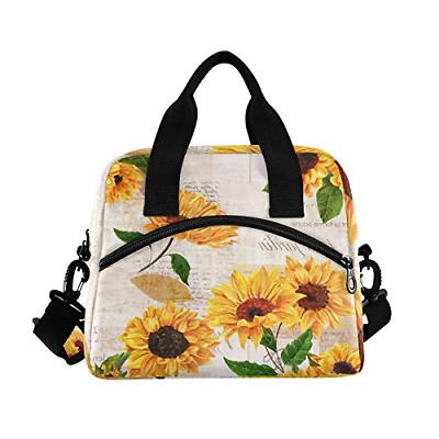 ALAZA Watercolor Blossom Floral Lunchbox Cooler