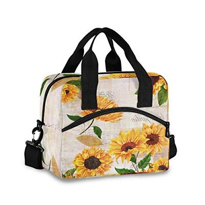 yellow watercolor sunflower blossom floral lunch bags