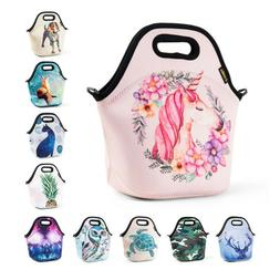 Cartoon Tote Insulated Lunch Bags for Women Kids Girl Unicor