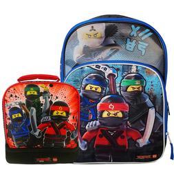 Lego Ninjago Kids Large Backpack, Lunch Bag Set