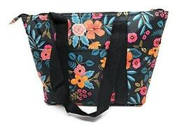 15 In Long Large Reusable Zippered Top Insulated Lunch Bag