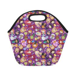 InterestPrint Lunch Bag Custom Princess Insulated Picnic Lun
