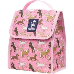Wildkin Lunch Bag, Horses in Pink