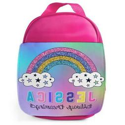 Lunch Bag School Childrens Girls Rainbow Insulated Pink Pers